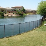 Removable Pool Fence lakeside installation